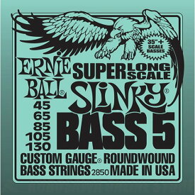 ERNIE BALL #2850 Bass 5 Slinky Super Long Scale Electric Bass Strings《ベース弦》【ネコポス】【ONLINE STORE】