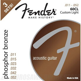 Fender Phosphor Bronze Acoustic Guitar Strings(11-52)《アコースティックギター弦》【ネコポス】【ONLINE STORE】