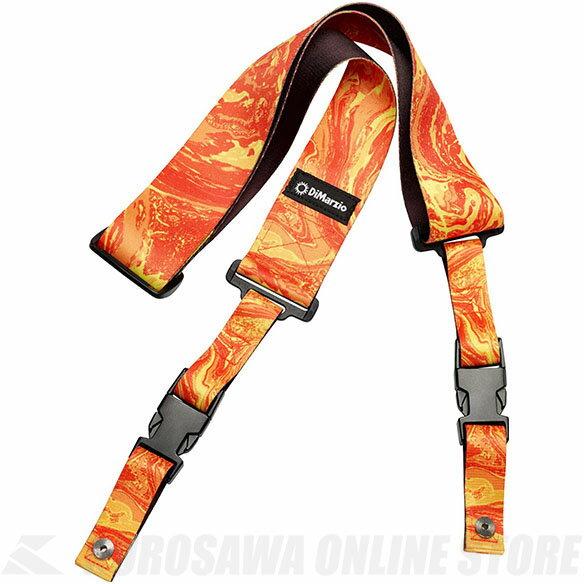DiMarzio DD2245 Steve Vai ClipLock - Orange Universe (ストラップ) 【ONLINE STORE】