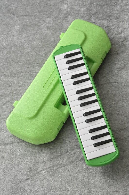 鍵盤ハーモニカ メロディポップ 32鍵盤 QM32A グリーン ドレミシール付 【ONLINE STORE】