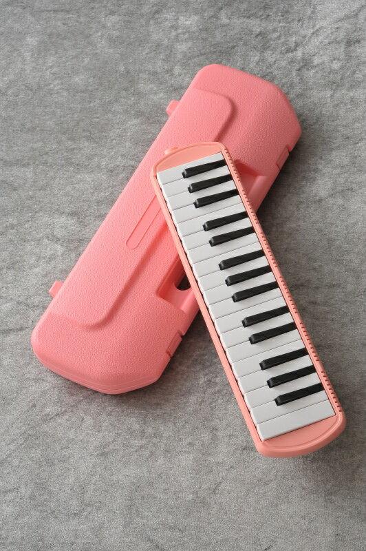 鍵盤ハーモニカ メロディポップ 32鍵盤 QM32A ピンク ドレミシール付 【ONLINE STORE】