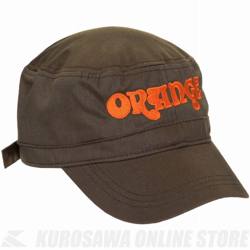 Orange Olive cadet hat with Orange motif [MC-CADET-HAT-OLIVE-ORANGE] (帽子)(ご予約受付中)【ONLINE STORE】