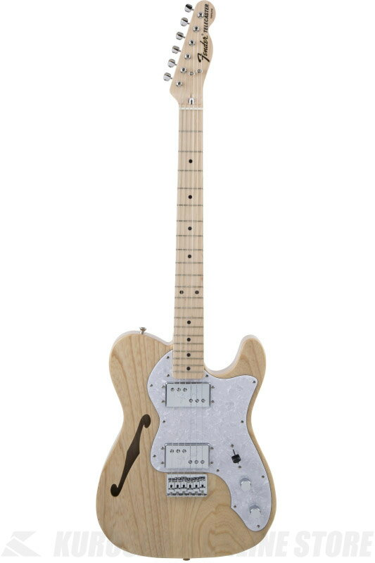 Fender Made in Japan Traditional MIJ '70s Telecaster Thinline, Maple, Natural [5352702321] (エレキギター/テレキャスター)(送料無料) 【ご予約受付中】【ONLINE STORE】