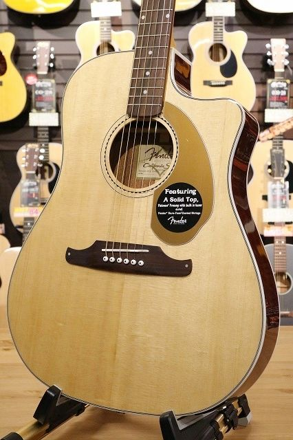 Fender Acoustic California Series / Sonoran SCE,NAT Thinline with Matching Headstock【名古屋店在庫品】