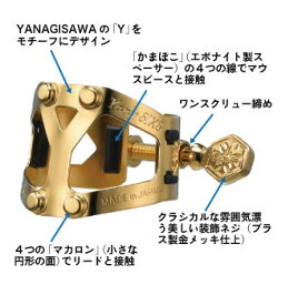 YANAGISAWA ヤナギサワ / Yany SIXS ヤニーシクス / リガチャー アルトサックス/B♭クラリネット兼用 【ONLINE STORE】