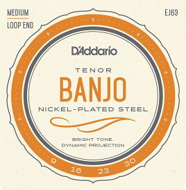 D'Addario EJ63 Tenor Banjo, Nickel, (9-30)《テナーバンジョー弦》 【ネコポス】