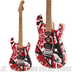 EVH Striped Series Frankie Maple Fingerboard -Red with Black Stripes- Relic (ご予約受付中)【ONLINE STORE】