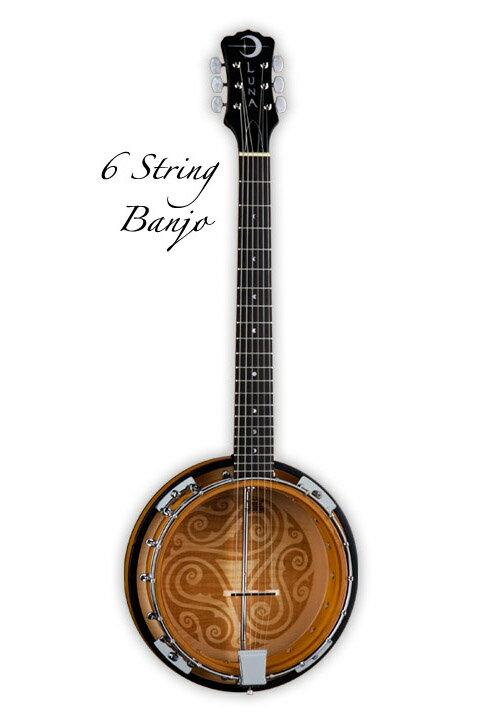 Luna Guitars Folk Series 6 String Banjo [BGB CEL 6] 《バンジョー》【送料無料】(ご予約受付中)【ONLINE STORE】