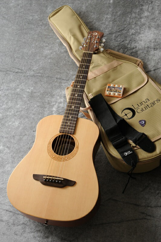 Luna Guitars SAF PK / Safari Muse Travel, Bag, Tune, Strap, Picks《アコースティックギタートラベラーパック》【送料無料】【ONLINE STORE】