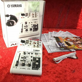 【即納!複数購入可能!】【送料無料】YAMAHA AG03(インターネット配信をサポートするウェブキャスティングミキサー)【アナログミキサー】【12/8付楽天ランキング受賞】【G-CLUB渋谷】
