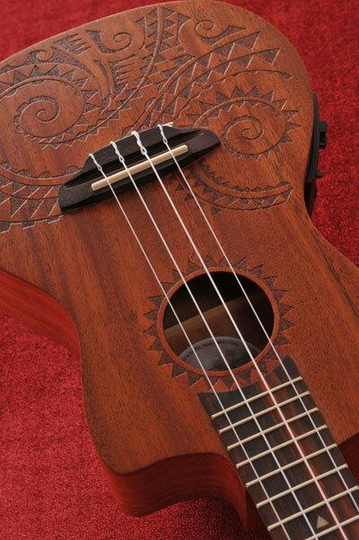 Luna Guitars Tattoo Concert Electric コンサート・ピックアップ付 【送料無料】【次回入荷分ご予約受付中】【ONLINE STORE】