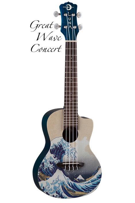 Luna Guitars Artistic Great Wave Concert [UKE GWC]《コンサートウクレレ》【送料無料】【ONLINE STORE】