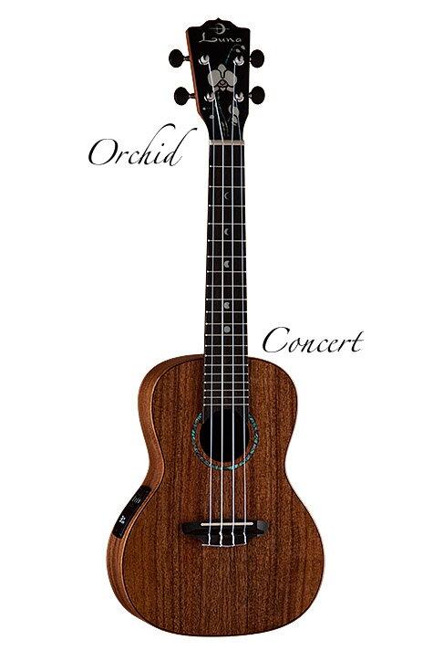 Luna Guitars All Solid Koa Orchid Concert [UKE S ORC]《コンサートウクレレ》【送料無料】【ONLINE STORE】