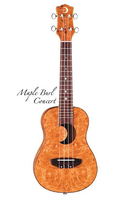 Luna Guitars Uke Concert maple burl crescent sd hole 《コンサートウクレレ》【送料無料】【ONLINE STORE】