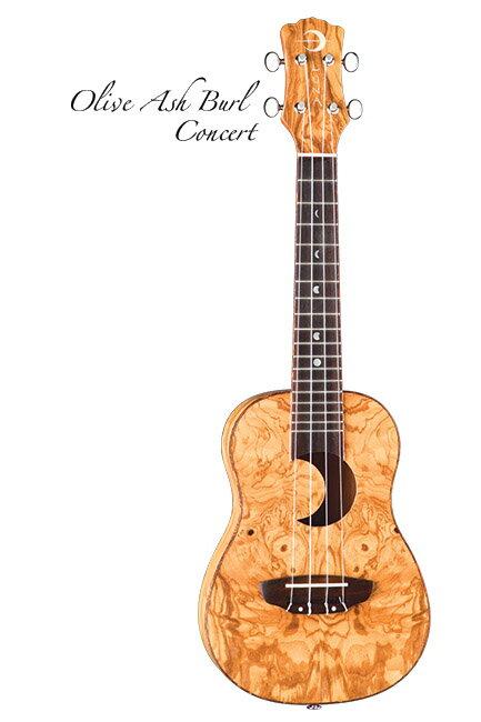 Luna Guitars Uke Concert olive ash burl crescent 《コンサートウクレレ》【送料無料】【ONLINE STORE】