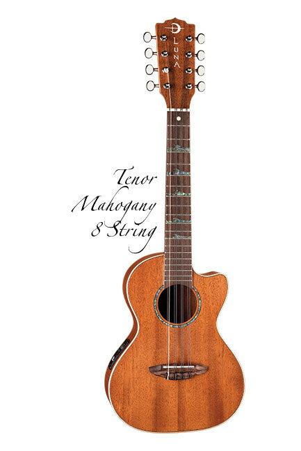 Luna Guitars Uke 8 string High Tide tenor uke mah 《8弦ウクレレ》【送料無料】【ご予約受付中】【ONLINE STORE】