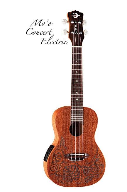 Luna Guitars Uke Mo'o Concert Electric Lizard w/preamp 《コンサートウクレレ》【送料無料】【ONLINE STORE】