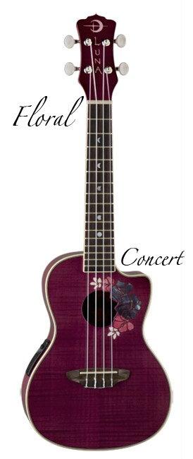 Luna Guitars UKE FLORAL コンサート【送料無料】(ご予約受付中)【ONLINE STORE】