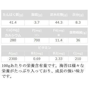 海苔の栄養価