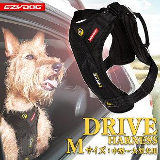 容易的狗EZYDOG開車兜風馬具M黑色