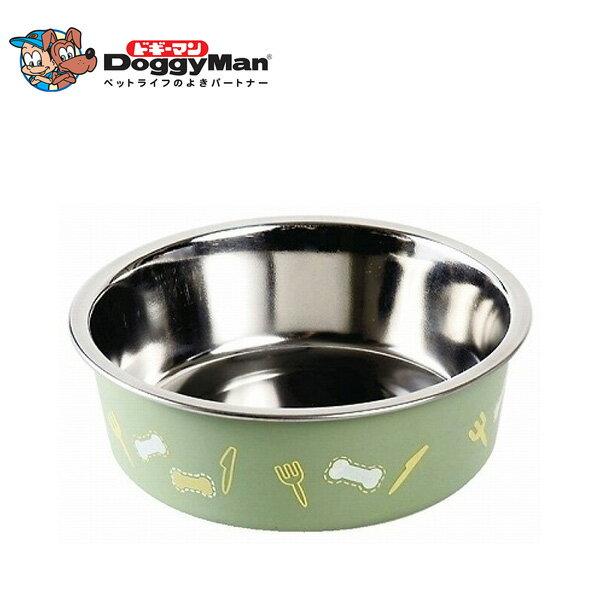 ドギーマン ステン食器ごはんにゃわん犬用 SS グリーン 【犬の食器(しょっき)/メタル・ステンレス/フードボウル】【犬用品/ペット・ペットグッズ/ペット用品】