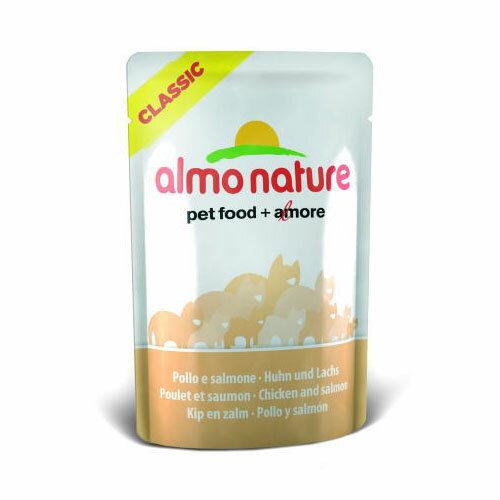 アルモネイチャー CLASSIC 鶏肉とサーモンのご馳走 55g 【ウェットフード・猫缶/成猫用(アダルト)/ペットフード】【猫用品/猫(ねこ・ネコ)/ペット・ペットグッズ/ペット用品】【Almo Nature/アルモネイチャー】