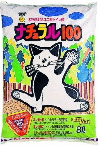 スーパーキャット ナチュラル100 8L 【猫砂/ねこ砂/ネコ砂】【猫の砂/猫のトイレ】【猫用品/猫(ねこ・ネコ)/ペット・ペットグッズ/ペット用品】