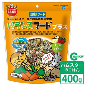 小動物 マルカン ML-03 リス・ハム バランスフードプラス 400g ■ ハムスター ドライフード 野菜 フルーツ