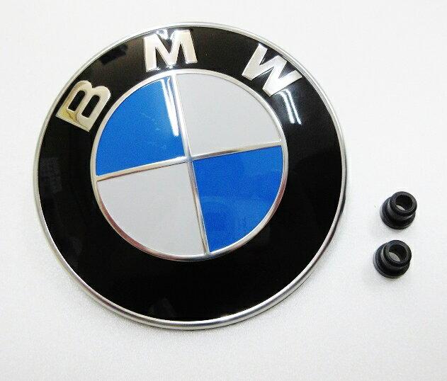 BMW 純正品 ボンネットバッチ 外径:82mm+グロメット×2個付き (51148132375)