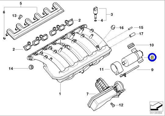 【送料サービス/送料込】BMW E36 E46 E34 E39 E60 E61 E38 E65 E66 X3 E83 Z4 E85/アイドルエアバルブ新品(13411744713/0280140545)