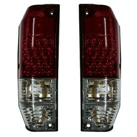 トヨタ ランクル ランドクルーザー 78系 プラド(ロングボディ)LEDテールライト(クリア&レッド/赤白) 左右セット新品 212-1974PXB-VCR