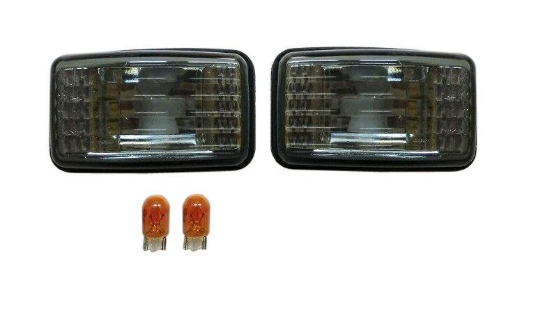 トヨタ ランクル80系 ランドクルーザー80系/クリスタルサイドマーカー(スモーク)左右セット新品