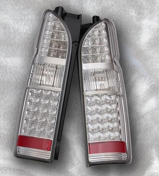 トヨタ HIACE 200系 ハイエース/LEDテールライト左右セット(ウィンカーLED・オールクリア)タイプS新品