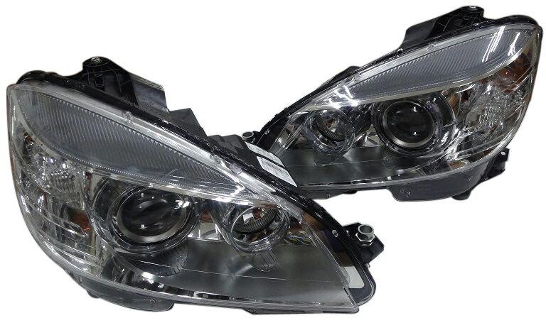【代引き発送可能/送料無料】ベンツ W204 Cクラス 前期 (セダン/ワゴン) MARELLI製 バイキセノンヘッドライト左右セット (2048203159/2048203259)