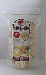 サクサク有機玄米とはと麦 85g×4個セット・名称変更予定(有機玄米クラッカープラスはと麦)【沖縄/別送料】【尾田川農園】【05P03Dec16】