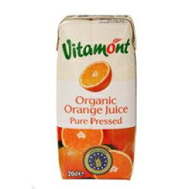 J41 ヴィタモント オーガニック オレンジジュース 200ml×24本セット【沖縄・別送料】【アリサン】【05P03Dec16】