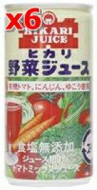 野菜ジュース(無塩) 190g ×6本セット【光食品株式会社】【05P03Dec16】