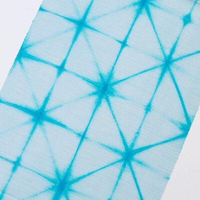 正絹帯揚げ 絽紬 板締め