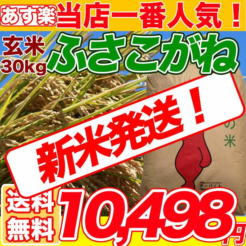 29年産 千葉県 ふさこがね 玄米 30kg コシヒカリを超えたうまさ 玄米食でも安心の選別済玄米30キロ 【送料無料】【精米無料】 精米(白米)発送可 【オススメ】【売れ筋】