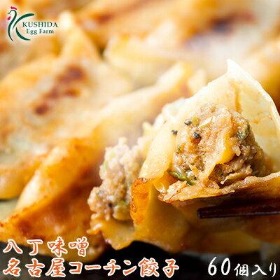 八丁味噌名古屋コーチン餃子【60個入り(30個入り×2袋)】タレ無しでお召し上がりください!