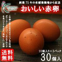 櫛田養鶏場の赤卵(30個入り)