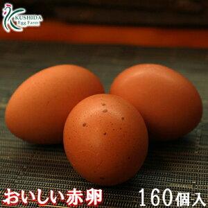 【普段使いにおススメ】☆業務用☆【送料無料】櫛田養鶏場のおいしい赤卵 160個(140個+20個割れ保障)