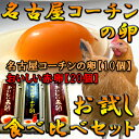 【愛知●尾張】名古屋コーチンの卵お試し食べ比べセット!!高級名古屋コーチンの卵(10個入り)+おいしい赤卵(20個…