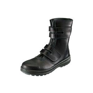 安全靴 牛革 樹脂先芯 長持ち 作業長靴 ブーツタイプ マジックテープ JIS S種 8538 黒 ブラック 作業靴 革 耐滑 丈夫 耐久性 長編 長靴 シモン ワイド SX 3層 ワークブーツ 安全ブーツ シンプル お
