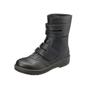 シモン 安全靴 大きいサイズ 29 30 cm 長編 マジック 7538 黒 JIS 8101 S種 規格 ワイド 樹脂 先芯 耐滑 牛革 ワークブーツ 牛革 現場 作業 セーフティーシューズ