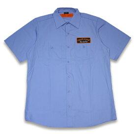 HARD LUCK ハードラック POOL SERVICE WORK SHIRT ワークシャツ BLUE