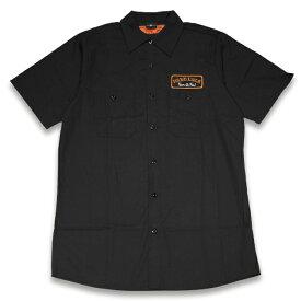 HARD LUCK ハードラック POOL SERVICE WORK SHIRT ワークシャツ BLACK