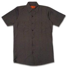 RED KAP SHORT SLEEVE SHIRTS 半袖ワークシャツ SP24CB CHOCOLATE BROWN