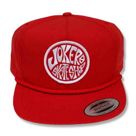 JOKERS SKATE SHOP NEW LOGO PATCH SNAP BACK キャップ RED