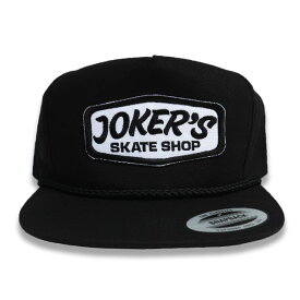JOKERS SKATE SHOP CLASSIC LOGO PATCH SNAP BACK キャップ BLACK -B-